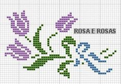 Here you can look and cross-stitch your own flowers. Mini Cross Stitch, Cross Stitch Rose, Cross Stitch Borders, Cross Stitch Flowers, Cross Stitch Charts, Cross Stitch Designs, Cross Stitching, Cross Stitch Embroidery, Cross Stitch Patterns