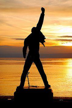 Statue of Freddie Mercury in Montreux, Switzerland.