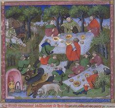 Muckley 1386 Hunting Gaston Phoebus' Book of Hunting Circa 1400 - Picnic