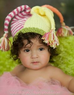 baby in jester hat ~ pintwist on jester hat sprouts in similar way as the top two purple flowers