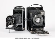 two old vintage camera