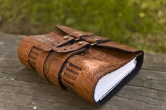 Artificial leather journal.