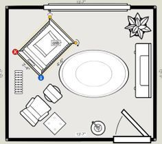 Virtual Nursery Planner - so cool!  You input the dimensions of the room and can play around with different layouts