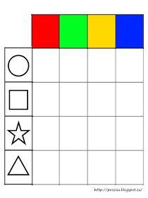 Pro Šíšu: Barvy tvary - logicke tabulky