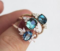 huge inventory 7bd66 86b9b Blue Sapphire Engagement Ring Rose Gold, Blue Cushion Sapphire and Diamond  Ring, Unique Blue Engagement Ring