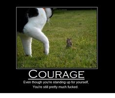 Courage Doesn't Always Mean Victory! - GagTown