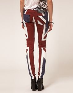 Union Jack jeans  I have these but hardly know how to style them! : (