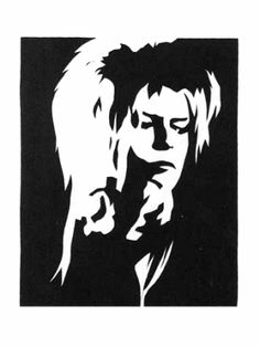 Bowie silhouette / link leads to nowhere. But this is nearly the proper sneer!