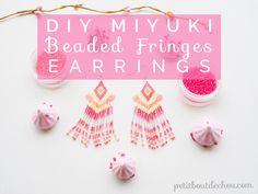 DIY Miyuki Beaded Fringes Earrings - Petit Bout de Chou