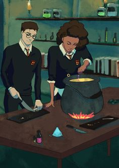 Harry and Hermione gif
