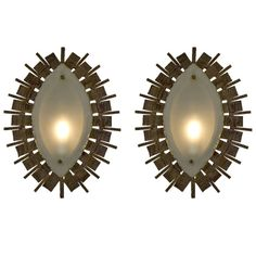 "1stdibs.com   Pair of Brutalist Style Sconces 22"" x 17"" x 2.5 TOO BIG $4500 net"