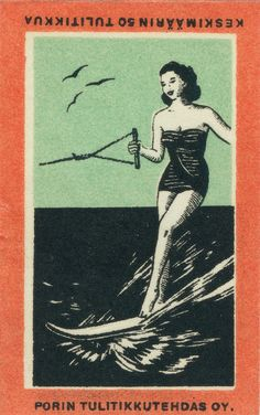finnish matchbox label
