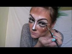 Deer makeup - A little glamorous for my taste but I like some of the ideas and it does teach some great contouring techniques! (I mean seriously, check out those cheekbones!) of course the high quality brushes and makeup really take the whole thing next-level with the blending and coverage