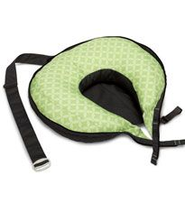 The Travel Boppy folds up into a compact carrier, so it won't take up a lot of space. #registry