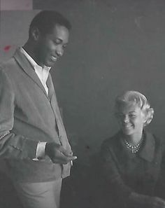 Great Photograph of singer Sam Cooke with his  friend singer Etta James...courtesy of Mignon Fame.  Source:  Historical African American Images
