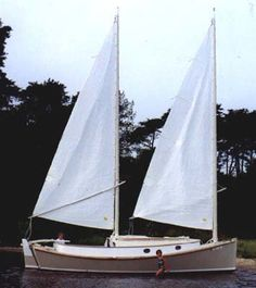 CATBIRD 24 - Sailing Sharpie Cruiser - Boat Plans - Boat Designs