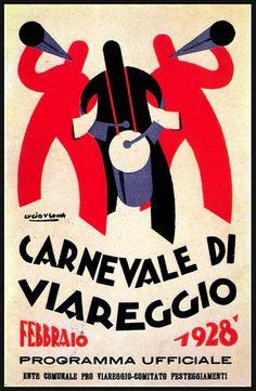 Carnevale di Viareggio by Lucio Venna, 1928#carnevale #viareggio - Repinned by #hoteltettuccio Montecatini Terme