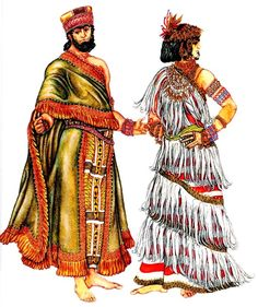 Suit Sumerian king and Sumerian woman