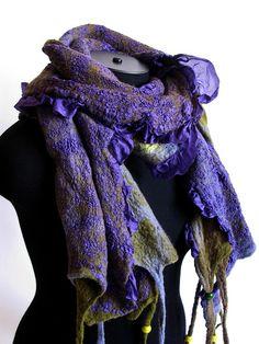 """Nuno felted scarf """"SPRING THE EQUINOX"""" by lolkins_marusya, via Flickr"""