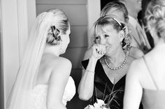 A mother getting choked up at the sight of her beautiful daughter.Photo Credit:Natalie Franke Photography on Southern Weddings via Lover.ly
