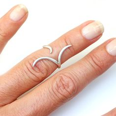 Knuckle Ring, Midi Ring, Cuff Ring, Silver Ring, Gold Ring, Organic Ring, Silver Knuckle Ring, Gold Knuckle Ring, Delicate Ring, Nixin