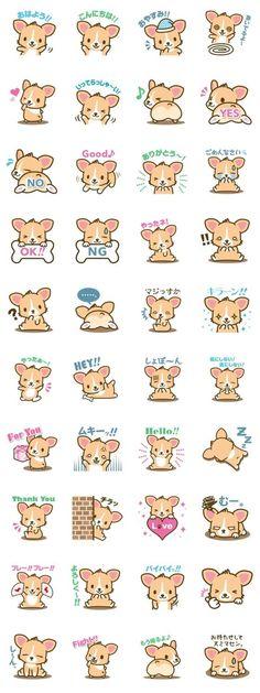 Kawaii corgi (Or korgi,if she was a Kardashian) Griffonnages Kawaii, Kawaii Anime, Kawaii Doodles, Cute Doodles, Kawaii Drawings, Cute Drawings, Animal Drawings, Kawaii Stickers, Cute Stickers