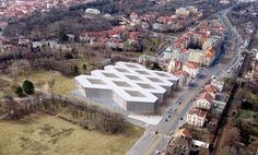 guarnieri architects envisions national library for czech republic - designboom | architecture