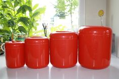 Vtg kitchen Canisters Nesting Storage Containers Bristol Ware in Collectibles, Vintage, Retro, Mid-Century, Plastic | eBay