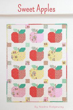 PDF Quilt Pattern SWEET APPLES Baby Quilt by ellisandhiggs