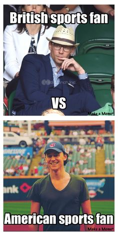 A bit of a difference between tennis and baseball!