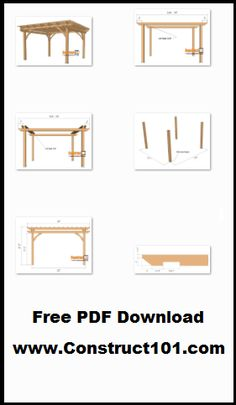 12×12 pergola plans, free PDF download, includes drawings, measurements, and material list.