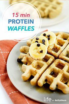 15-Minute Protein Waffles Recipe via @dailyburn