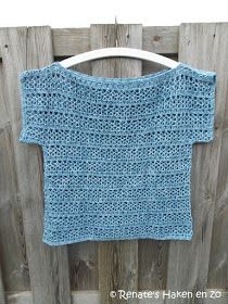 Discover thousands of images about Gehaakt zomer truitje (met link naar gratis patroon) / crochet summer top (with link to free pattern) Cardigans Crochet, Crochet T Shirts, Crochet Blouse, Crochet Clothes, Pull Crochet, Easy Crochet, Knit Crochet, Knitting Patterns Free, Crochet Patterns