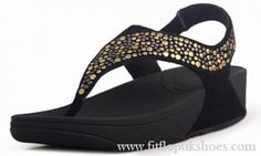 Newstyle Black Womens Fitflop Rokkit S Diamond Sandals