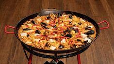 Seafood Paella Recipe by Leno Lattarulo Masterchef Recipes, Seafood Paella, Paella Food, Masterchef Australia, Paella Recipe, Rice Recipes, Savoury Recipes, Recipies, Mussels