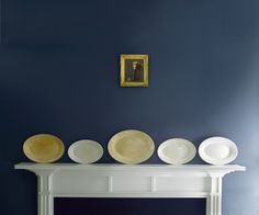 #BenjaminMoore Hale Navy HC-154 with Aura, matte finish (wall).