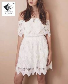 >> Click to Buy << SHD280 Women New short sleeve water soluble flower dress #Affiliate