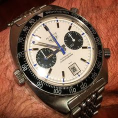Here's one that doesn't get enough wear. The Heuer 'Siffert' Autavia 1163T. by _queuecumber_ from Instagram http://ift.tt/1rJl3XI