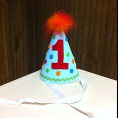 1st Birthday Hat I made my son.