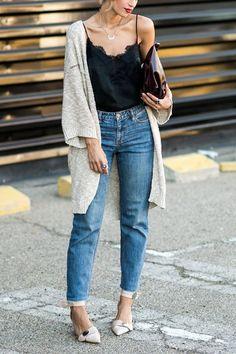 How to Wear High-Waisted Jeans, Fashionably via @PureWow
