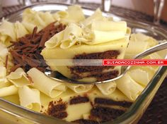 Receita de Pavê-musse de chocolate branco
