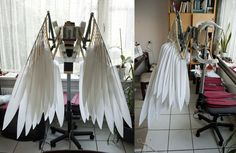 Wings WIP - folded by Mashayahana on DeviantArt