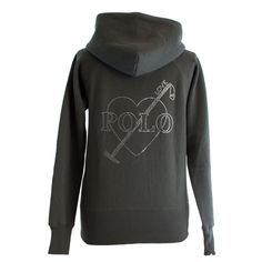 Grey zipped hoodie with sparkle print   back