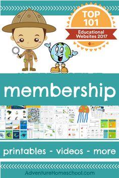 Adventure Homeschool Membership with printables, v…