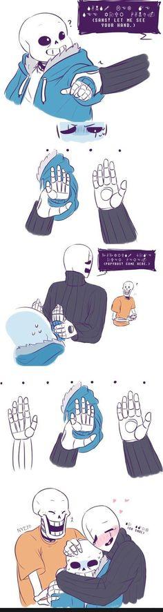 Awwww,sans has a cute smol hand!! ^//D//^