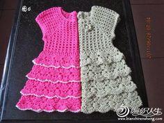 Crochet: DRESS FOR GIRLS tutorial e graficos no site