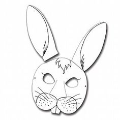 Craft (they can color): Rabbit Printed Card Masks for Kids to Decorate - Pack of 6, Themed Crafts, Alice in Wonderland, childrens crafts, children's craft supplies
