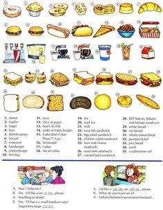 Fast food & sandwiches English lesson/ Lección comida rápida y sanwiches