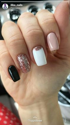 What Christmas manicure to choose for a festive mood - My Nails Aycrlic Nails, Pink Nails, Cute Nails, Hair And Nails, Gold Nails, Summer Acrylic Nails, Best Acrylic Nails, Stylish Nails, Trendy Nails