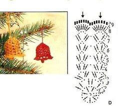 Crochet Christmas Decorations, Christmas Crochet Patterns, Crochet Snowflakes, Crochet Doilies, Christmas Crafts, Crochet Egg Cozy, Crochet Toys, Christmas Bells, Christmas Angels